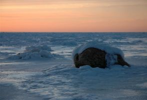iced boulder by LucieG-Stock