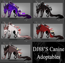 $35 Strange Canines Adopts Open by DJ88