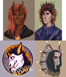 March 2018 Headshot commissions by Katryano