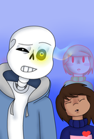 Sans and the Murder Children by P-Paradox