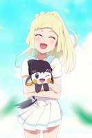 Commission: Lillie Holding Emonga by DaDonYordel
