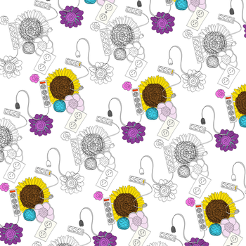 Unusual Patterns: Flowers and Electrical Outlets by PlantParade