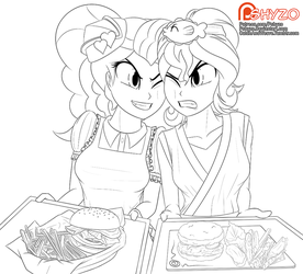 Diner Pinkie vs. Sunset Sushi by ApplesToThe
