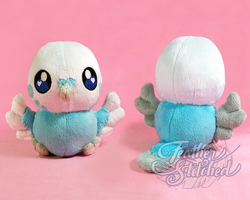 Chubby Chibi Budgie! by FeatherStitched