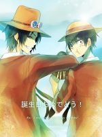 Ace and Luffy for Kou by Lancha