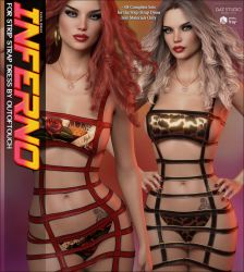 Inferno for Strip Strap Dress by cosmosue