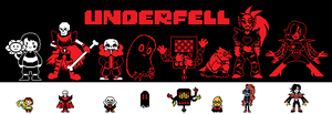 Underfell Sprites by SapphicTurquoise