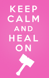 Keep Calm and Heal On Paladin by poisiongirl