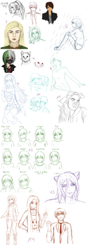 sketchdump #2 by dinaaw