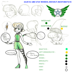 Alicia Arcane Design Reference by LanceOlleyFrie