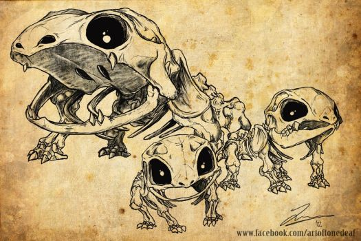 Bulbasaur evolutions skeletons by acidic055