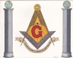 Concepts for Masonic Lodge Mural by angelacapel