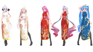 MMD Model Pack: TDA China Dress Models by K-Manoc1