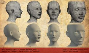 'Female Head Base' 3D Model with Topology by LiamGolden