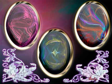 Rainbow Egg Jewels by Arialgr