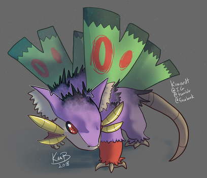 Pokefusion: Raticate/Rattata + Dustox by phantos