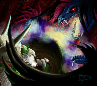 When the light fight with darkness by Weirda-s-M-art