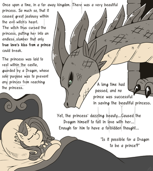 Dragon And Sleeping Beauty by vavacung