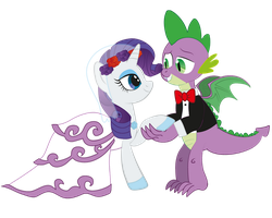 Spike and Rarity's dream wedding. by raggyrabbit94