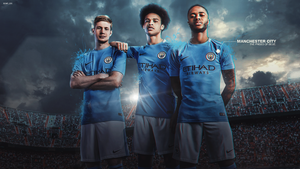 Manchester City 2017/18 Wallpaper by RonitGFX
