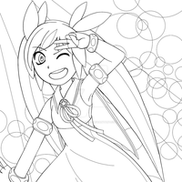 Magical Salute (Colouring Page)