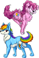 MLP Dogs: Pinkie and Rainbow. by BritishStarr