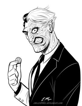 Two-Face by em-scribbles
