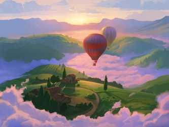Commission: Above The Clouds by RHADS