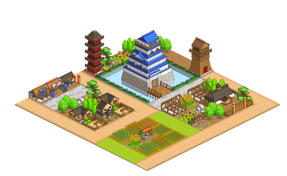 Pixel - Oh Edo Towns by firstfear