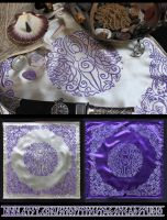Spiral Goddess Altar Cloth with Triple Moon Motif by ImogenSmid