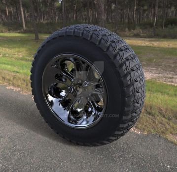 Truck Wheel by 3D-BUG