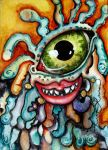 One Eyed Monster Goes with the Flow by BoneDiva