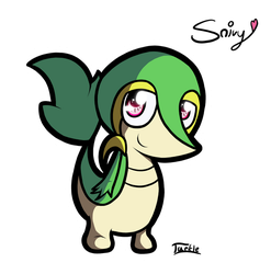 Snivy by PsychoticTurtle