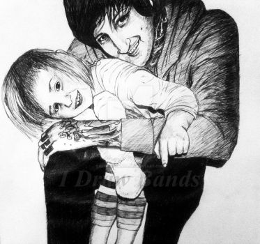 Mitch Lucker and Kenadee Lucker-Daddy and Daughter by I-Draw-Bands