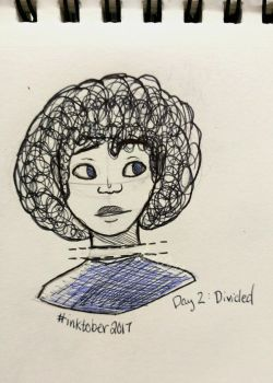 Inktober Day 2: Divided by Glacilynn