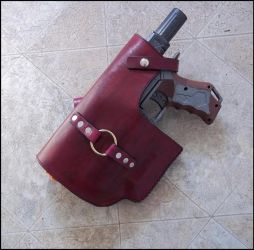 Leather Retaliator Holster by SteamViking