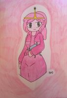 Princess Bubblegum (and BMO) fanart  by ShadAmyfangirl129
