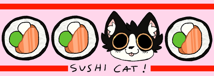 ON SALE: Yummy snack sushi cat! by PterrorPterodactyl