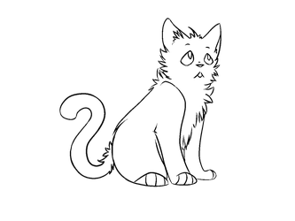 F2u Warrior Cats Kit Lineart by popfiish