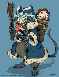 Rick and Morty - Krampus Rick by caycowa