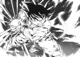 GOKU KID doing a KAMEHAMEHA by marvelmania