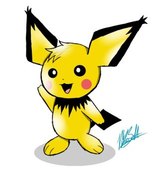 _Pichu_ by awesomebenders