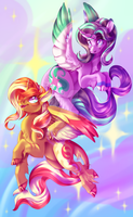 Shimmer Glimmer (Alicorn version) by CandyChameleon
