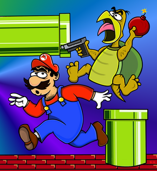 Mario pissed off the wrong turtle by TallToonist