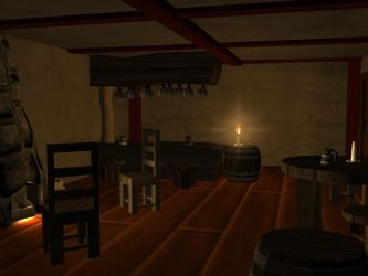 3D Tavern By Candle Light by ReneeMars