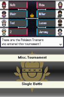 Miscellaneous Tournament Brackets by Snivy101