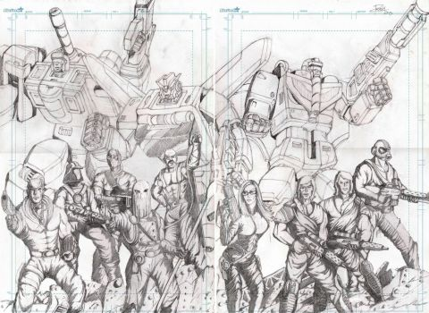 Triple Changers and cobra WIP by J-Rayner