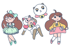 Bee and puppycat 24 hour livestream doodle by GalaxysCloud