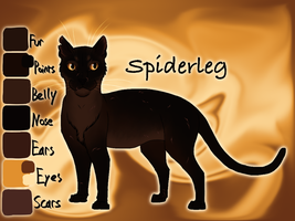 Spiderleg of ThunderClan - Shrewfoot's Spite by Jayie-The-Hufflepuff