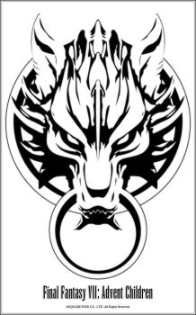 FFVII:AC Wolf Glyph Vector by NightSabre